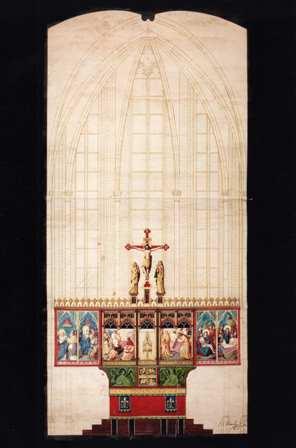 foto 2 - Ontwerp hoogaltaar Pierre Cuypers en August Martin 1877 (NAi Rotterdam)