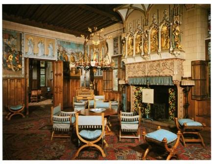 foto 7 - Interieur Blauwe Kamer Kasteel Loppem B met muurschilderingen van Martin (bron De Maas-gouw jrg 121/1)
